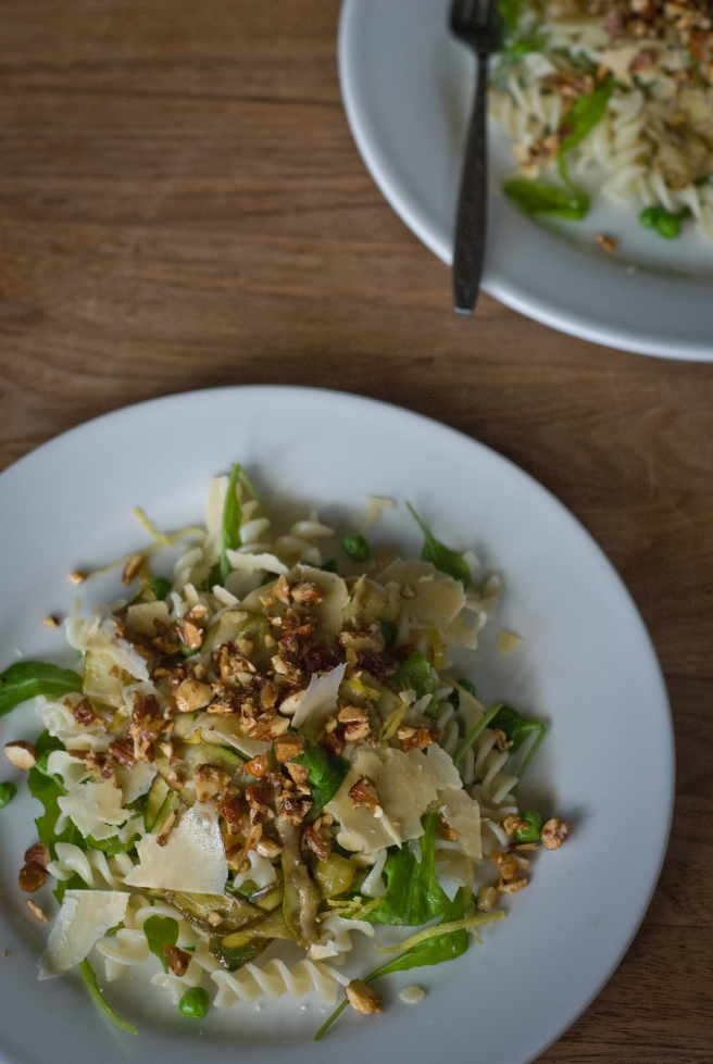 Pasta with Lemon, Zucchini & Brown Butter Almonds | The Rusty Skillet